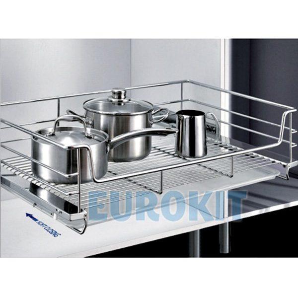 Giá để xoong nồi EUROKIT CH 800/850 – INOX 304, Ray giảm chấn gắn liền