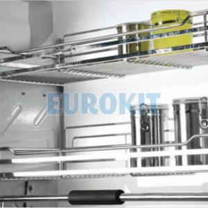 Giá bát nâng hạ cao cấp EUROKIT KI 700/800/900 – Inox 304 – Nan vuông, khung sườn bằng inox khay hứng nước bằng nhựa