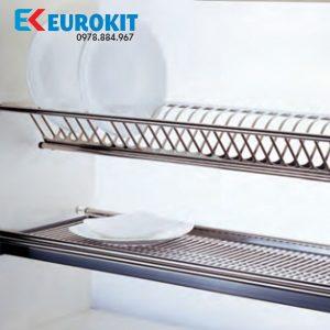 Giá để bát 2 tầng EUROKIT GK012 600/700/750/800/850/900/1000 – có khay inox 304