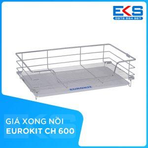 Giá để xoong nồi EUROKIT CH 600/700/800/900 – INOX 304, Ray giảm chấn gắn liền