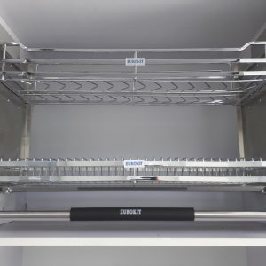 Giá bát nâng hạ cao cấp EUROKIT UB700/800/900 New – Inox 304 – Nan vuông, khung sườn bằng inox khay hứng nước bằng Inox