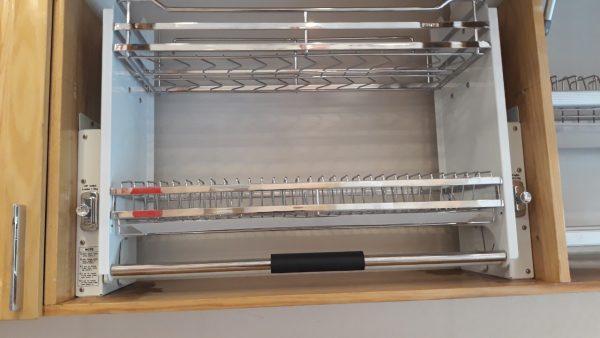 Giá bát nâng hạ EUROKIT UB 600/700/800/900M – Inox 304 – Nan vuông, khay hứng nước bằng Inox