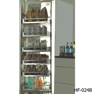 Tủ kho 6 tầng cánh mở inox đan ô vuông EUROKIT HF 024B – INOX 304 12 RỔ