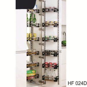Tủ kho 6 tầng inox hộp EUROKIT HF 024D -12 RỔ khung sơn trắng