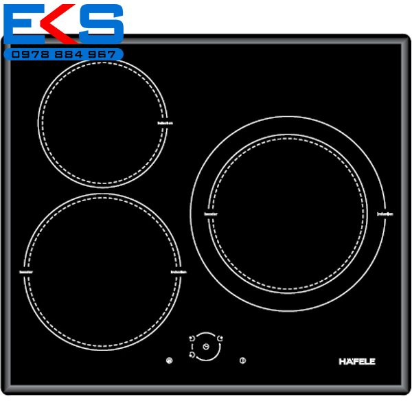 Bếp từ 3 vùng nấu Hafele HC – I603C – Điều khiển tròn